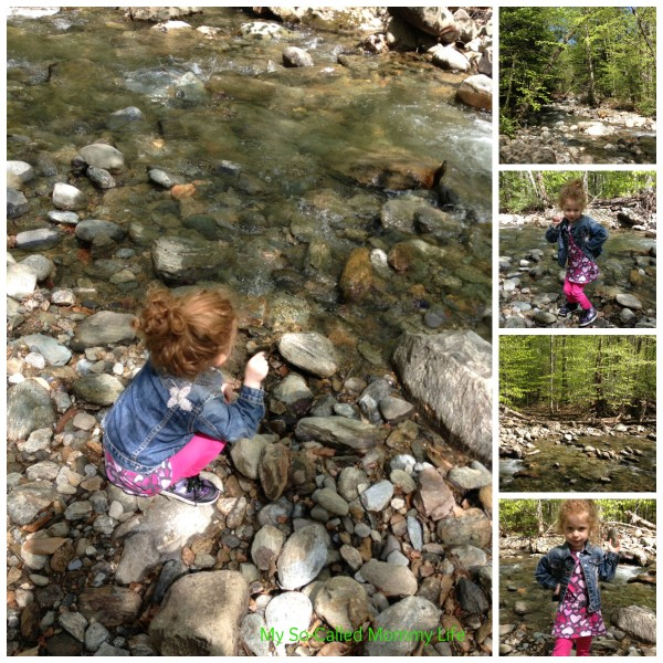 Princess Peach + Rocks + Water = a very happy girl in her element! This was taken yesterday at a river in Vermont.