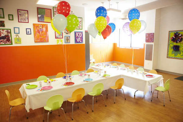 Birthday Party Set up at Kidville