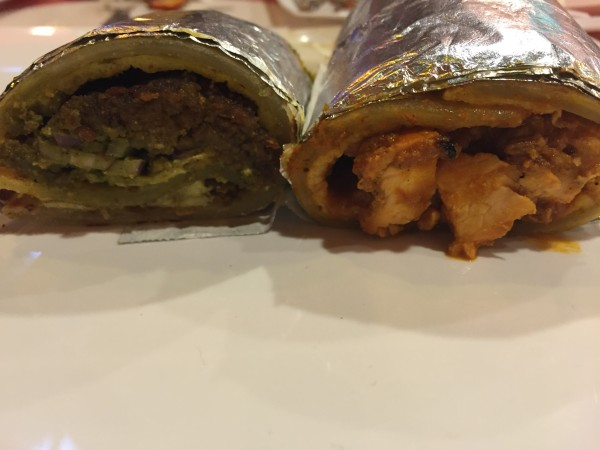 Shami Kabab and Butter Chicken Tikka Kathi Rolls