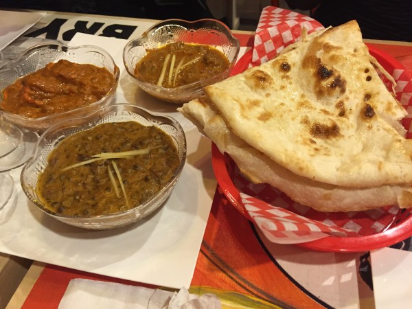 Curry's: Paneer Lababdar, Dal Makhani, Lamb Rogan Josh and Naan
