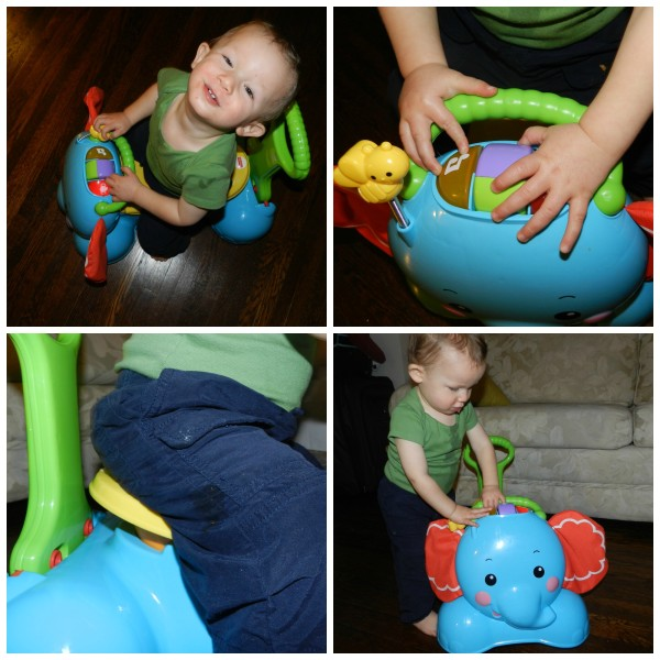 3-in-1 bounce, stride and ride elephant Fisher-price