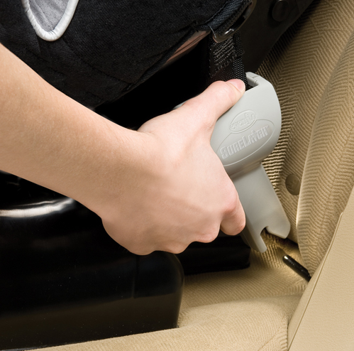Evenflo's auto-retracting SureLATCH connectors makes installing the seat very easy