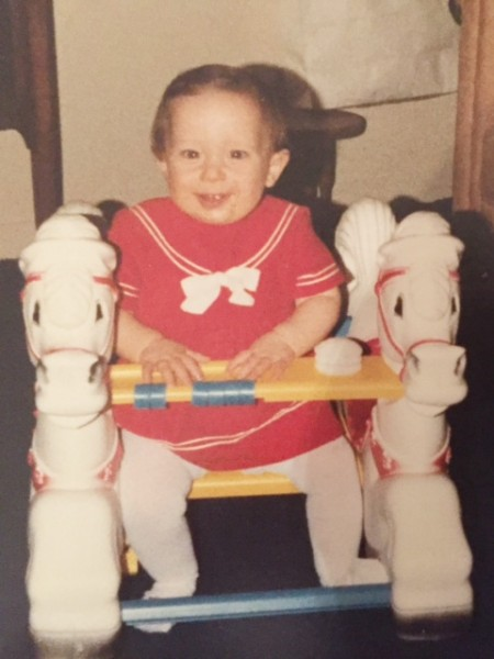 Me celebrating my first Chanukah is 1981